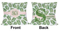 Tropical Leaves Outdoor Pillow (Personalized) - YouCustomizeIt