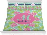 Preppy Hibiscus Comforter Set