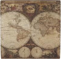 Vintage World Map Ceramic Tile Hot Pad - YouCustomizeIt