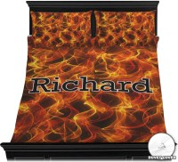 Fire Duvet Cover Set - Full / Queen (Personalized ...