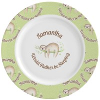 Sloth Ceramic Dinner Plates (Set of 4) (Personalized ...