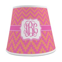 Pink & Orange Chevron Empire Lamp Shade (Personalized