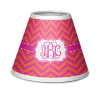 Pink & Orange Chevron Chandelier Lamp Shade (Personalized