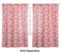 Coral & Teal Window Sheer Scarf Valance (Personalized ...