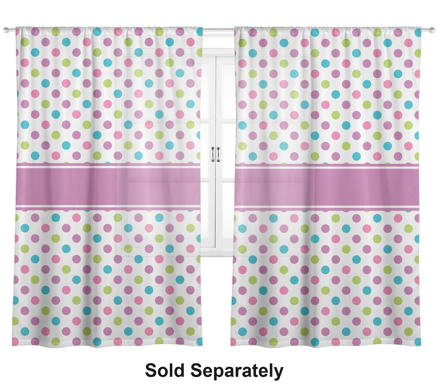 Polka Dot Butterfly Window Sheer Scarf Valance