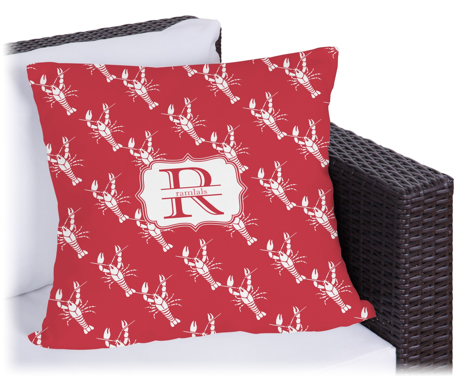 Crawfish Outdoor Pillow Personalized  YouCustomizeIt