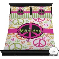 Peace Sign Duvet Cover Set - Full / Queen (Personalized ...