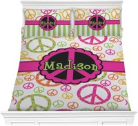 Peace Sign Comforter Set - Full / Queen (Personalized ...