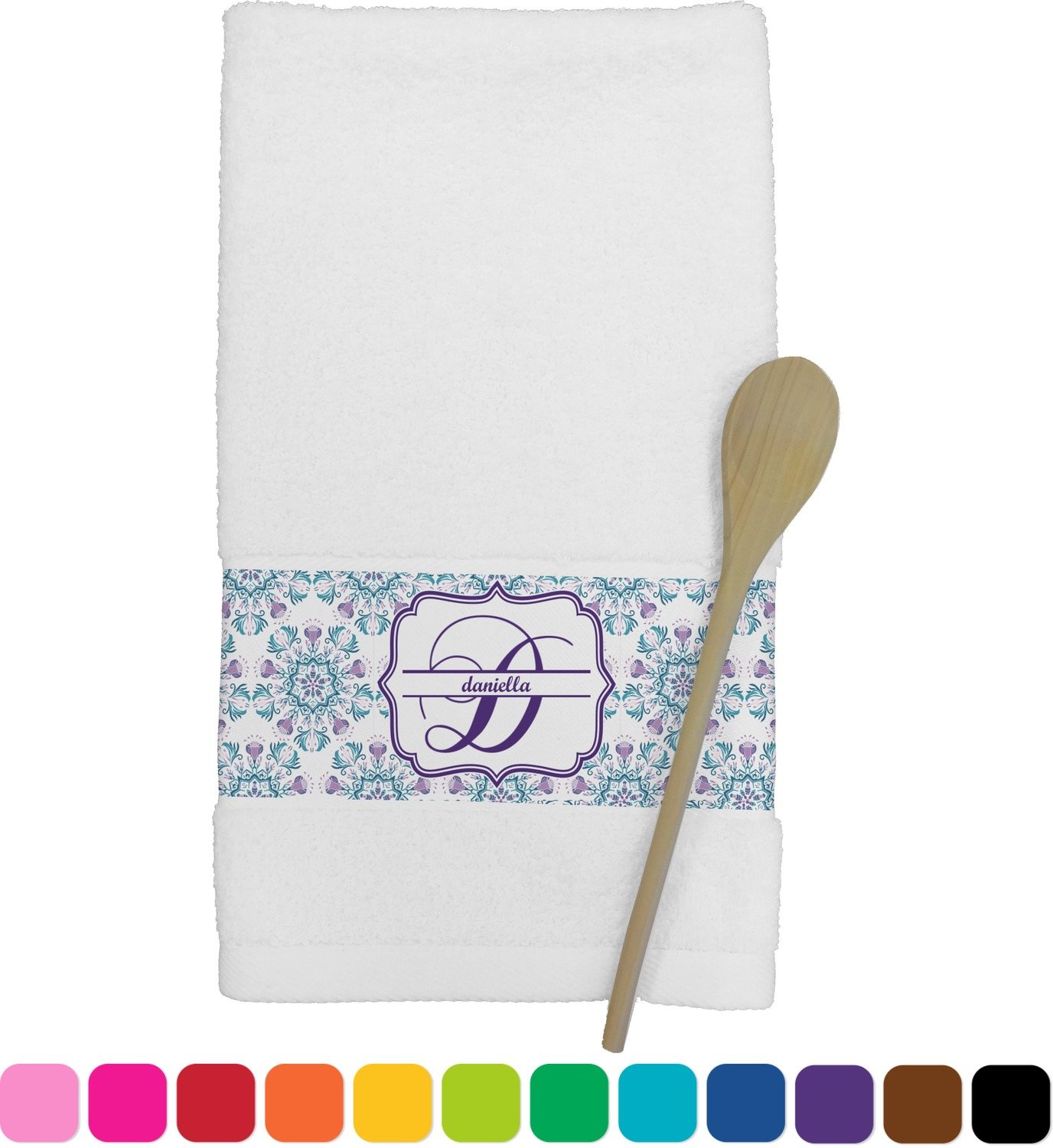 personalized kitchen towels top rated appliances mandala floral towel youcustomizeit