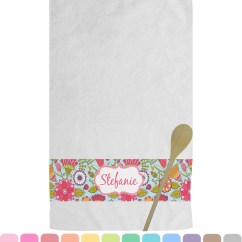 Personalized Kitchen Towels Aid Colors Wild Flowers Towel Youcustomizeit