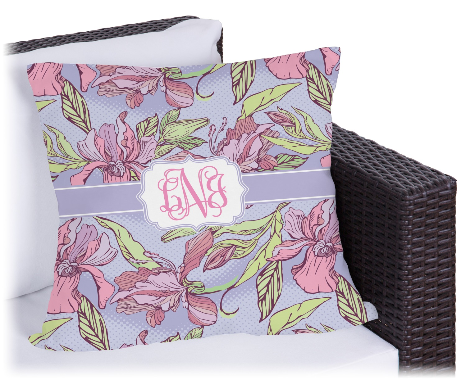 Orchids Outdoor Pillow Personalized  YouCustomizeIt
