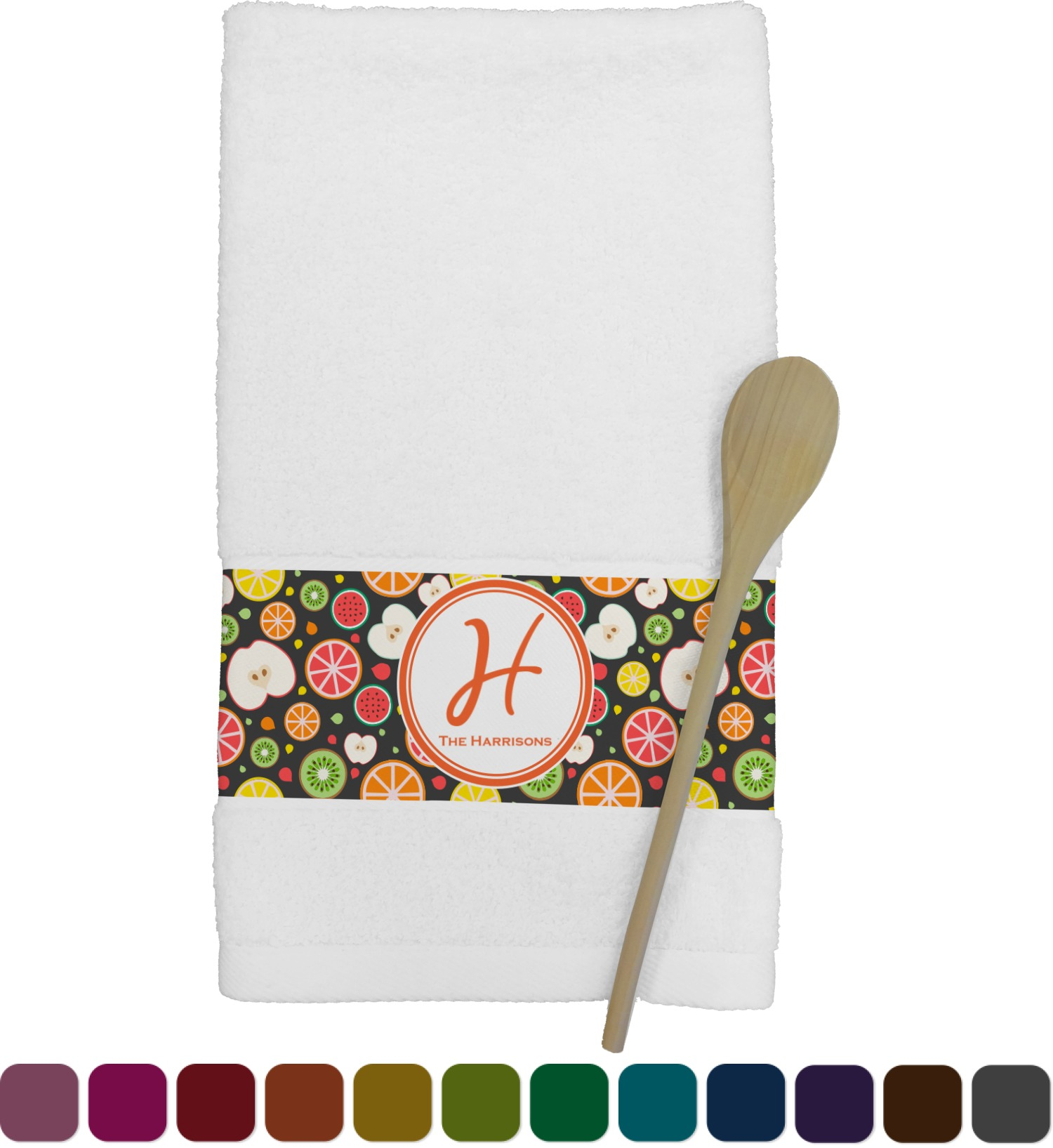 personalized kitchen towels faucet sprayer hose apples and oranges towel youcustomizeit