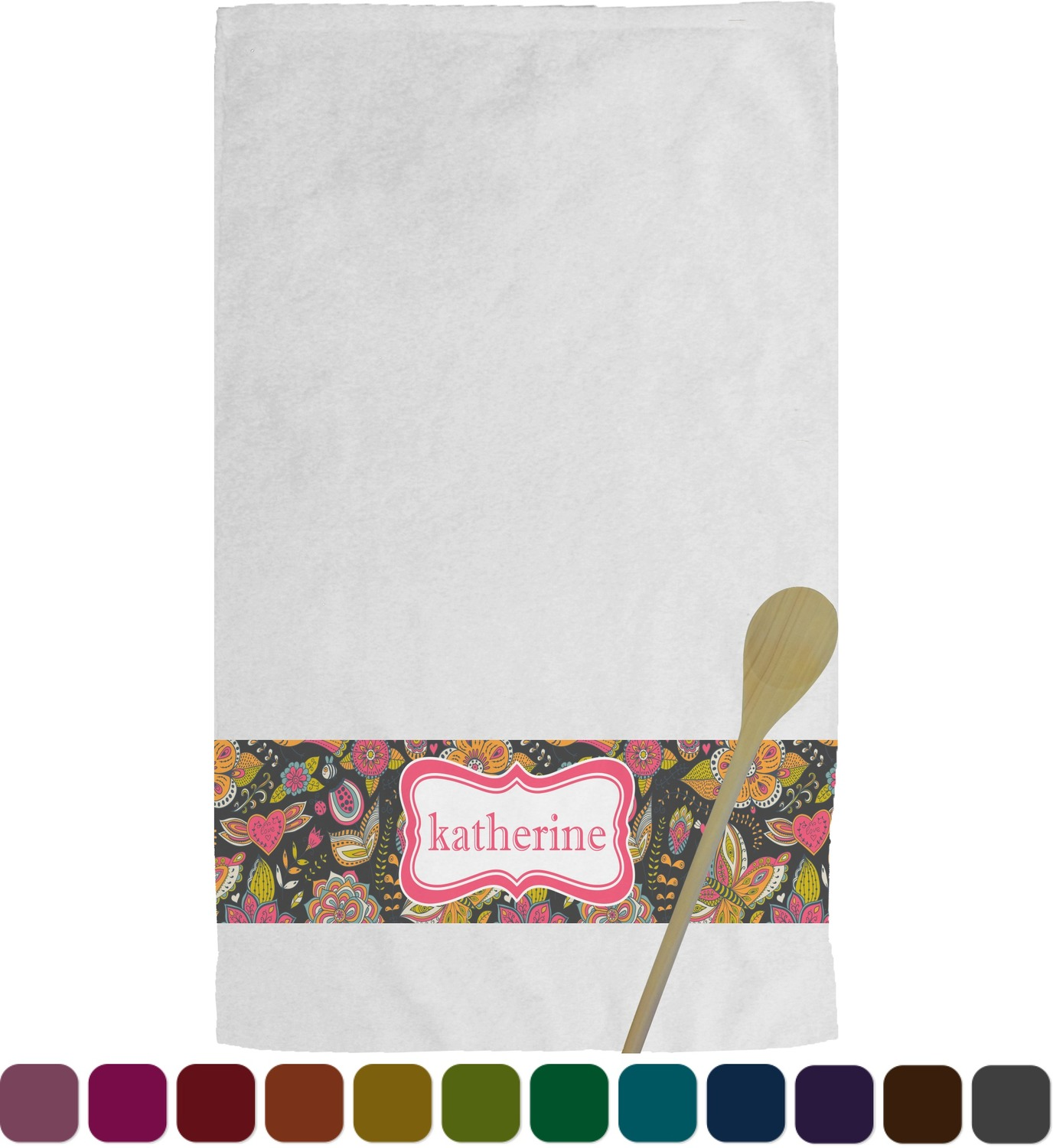 personalized kitchen towels south jersey remodeling birds and butterflies towel