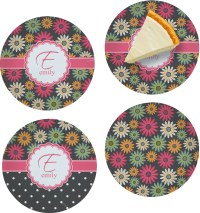 Daisies Set of 4 Glass Appetizer / Dessert Plate 8 ...