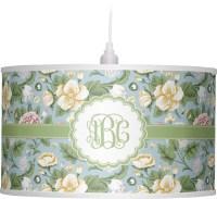 Vintage Floral Drum Pendant Lamp (Personalized ...