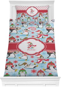 Christmas Penguins Comforter Set - Twin XL (Personalized ...