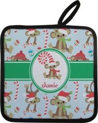 Christmas Monkeys Pot Holder (Personalized) - YouCustomizeIt