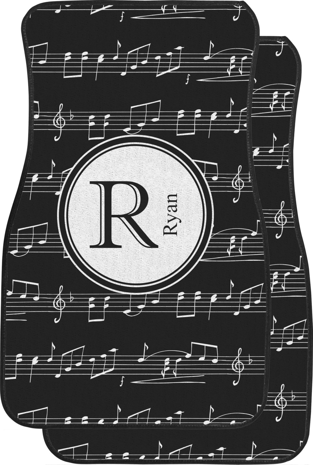 Musical Notes Car Floor Mats Front Seat Personalized