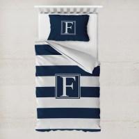 Horizontal Stripe Duvet Cover Set - Toddler (Personalized ...