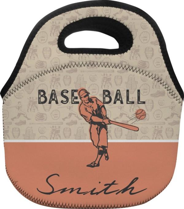 Retro Baseball Lunch Bag - Small Personalized