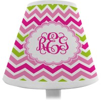 Pink & Green Chevron Chandelier Lamp Shade (Personalized