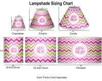 Pink & Green Chevron Empire Lamp Shade (Personalized ...