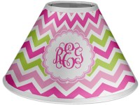 Pink & Green Chevron Coolie Lamp Shade (Personalized