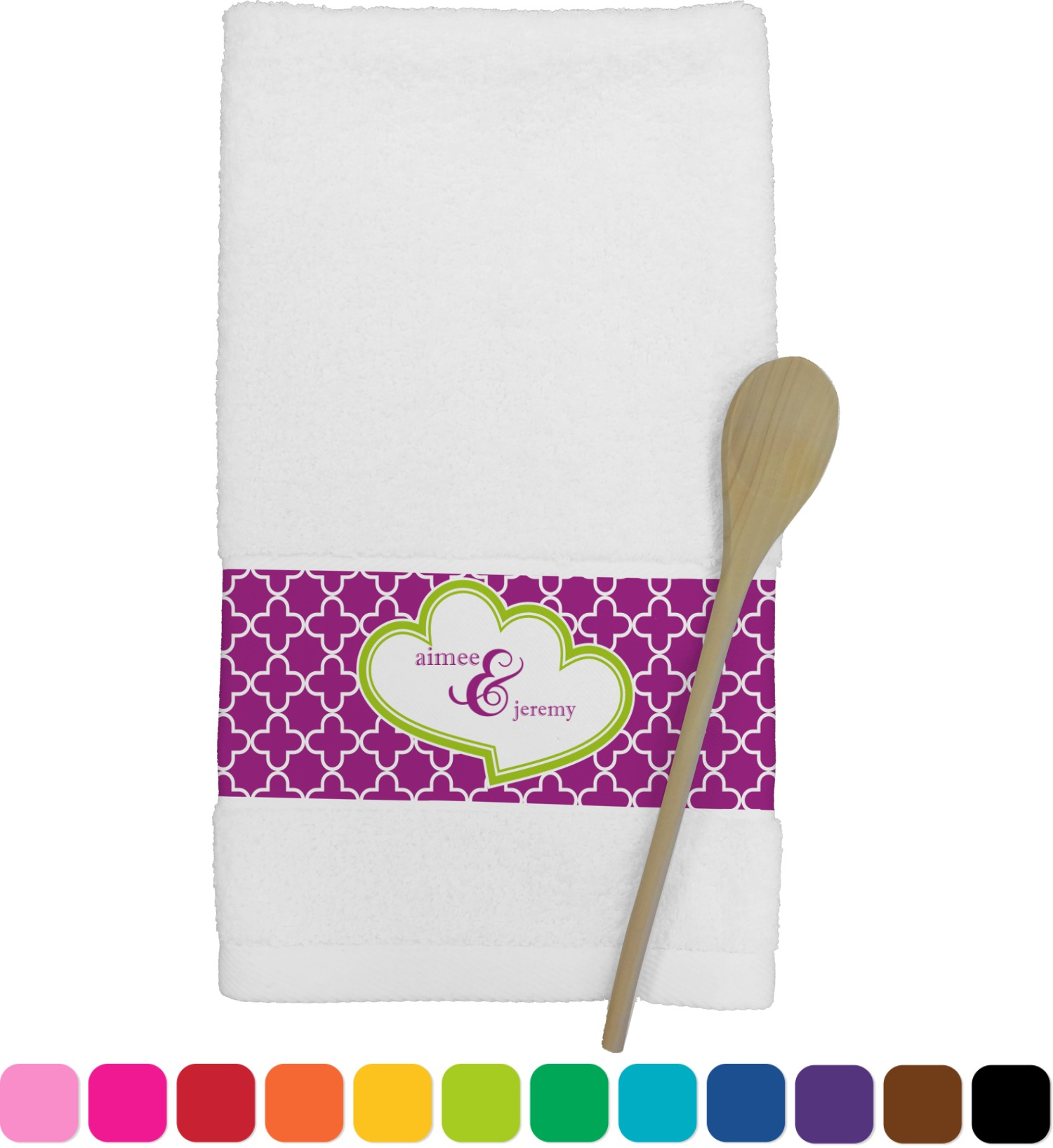 personalized kitchen towels remodeling a clover towel youcustomizeit