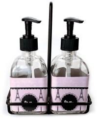 Paris & Eiffel Tower Soap & Lotion Dispenser Set (Glass ...