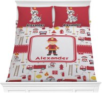 Firefighter Comforter Set (Personalized) - YouCustomizeIt