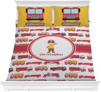 Firetrucks Comforter Set - Full / Queen (Personalized ...