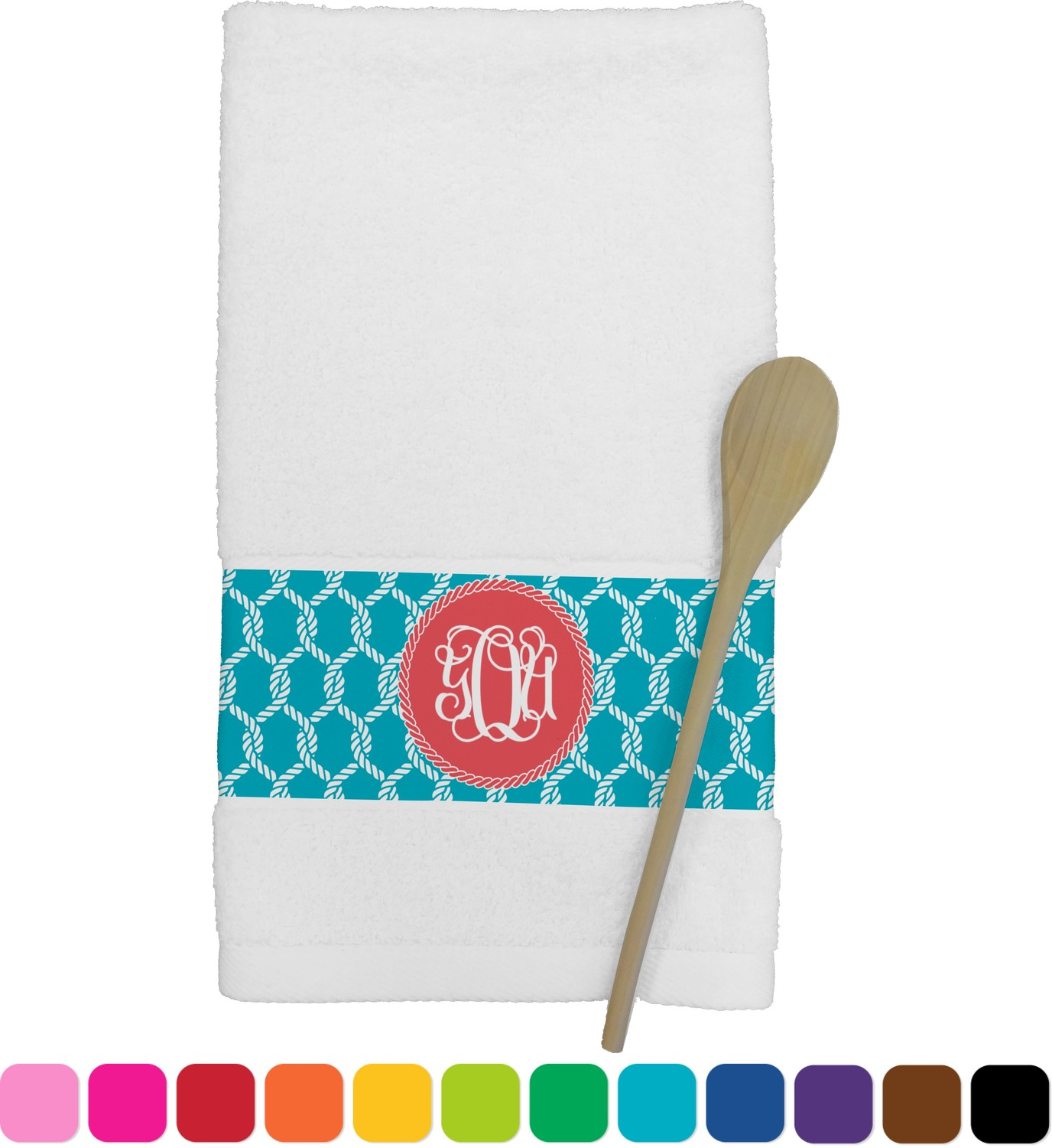 personalized kitchen towels cart with drawers linked rope towel youcustomizeit