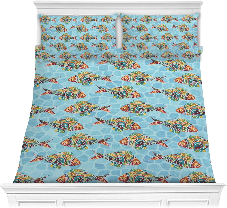 Mosaic Fish Comforter Set