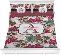Sugar Skulls & Flowers Comforter Set - Full / Queen ...