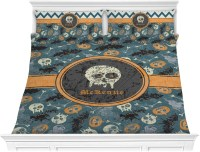Vintage / Grunge Halloween Comforter Set - King ...