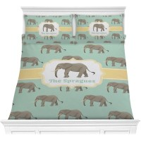 Elephant Comforter Set - Full / Queen (Personalized ...