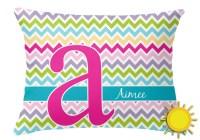 Colorful Chevron Outdoor Throw Pillow (Rectangular ...