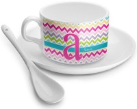 Colorful Chevron Tea Cup - Single (Personalized ...