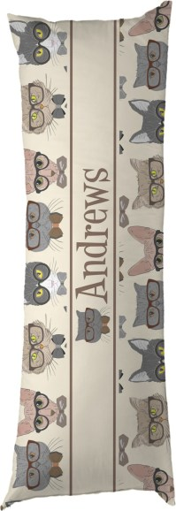 Hipster Cats Body Pillow Case (Personalized) - YouCustomizeIt