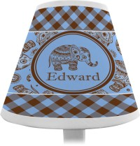 Gingham & Elephants Chandelier Lamp Shade (Personalized