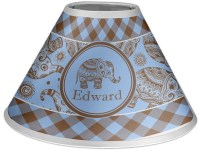 Gingham & Elephants Coolie Lamp Shade (Personalized