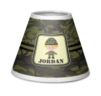 Green Camo Chandelier Lamp Shade (Personalized ...
