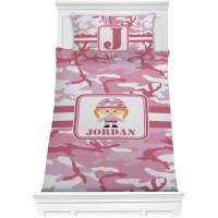 Pink Camo Comforter Set - Twin (Personalized) - YouCustomizeIt