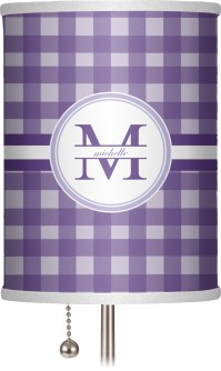 Gingham Print Drum Lamp Shade Linen (Personalized ...