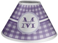 Gingham Print Coolie Lamp Shade (Personalized