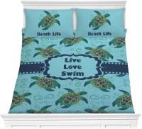 Sea Turtles Comforter Set - Full / Queen (Personalized ...