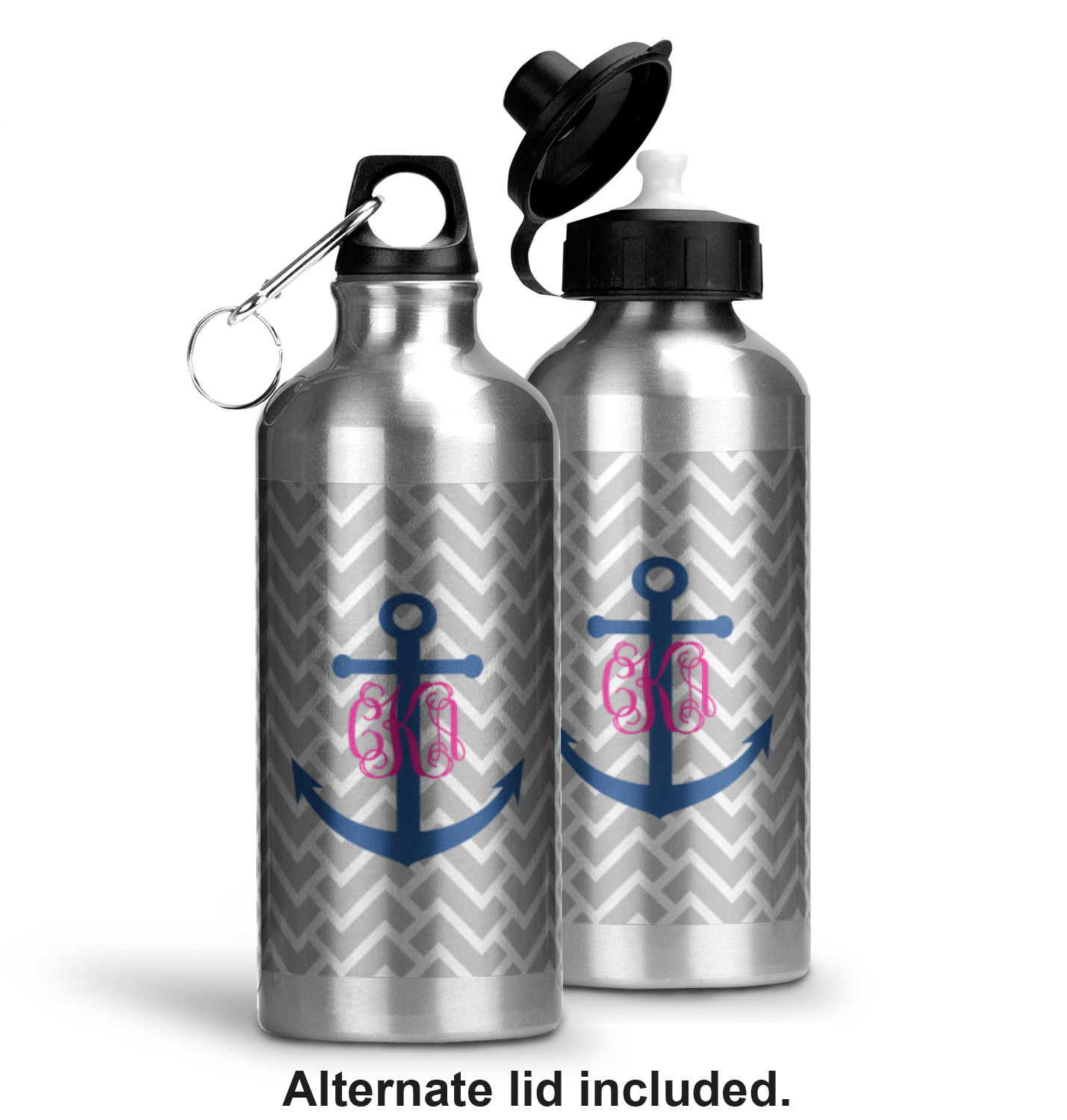 monogram anchor water bottle