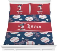 Baseball Comforter Set - Full / Queen (Personalized ...