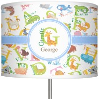 "Animal Alphabet 13"" Drum Lamp Shade Linen (Personalized ..."