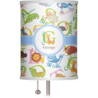 "Animal Alphabet 7"" Drum Lamp Shade Linen (Personalized ..."